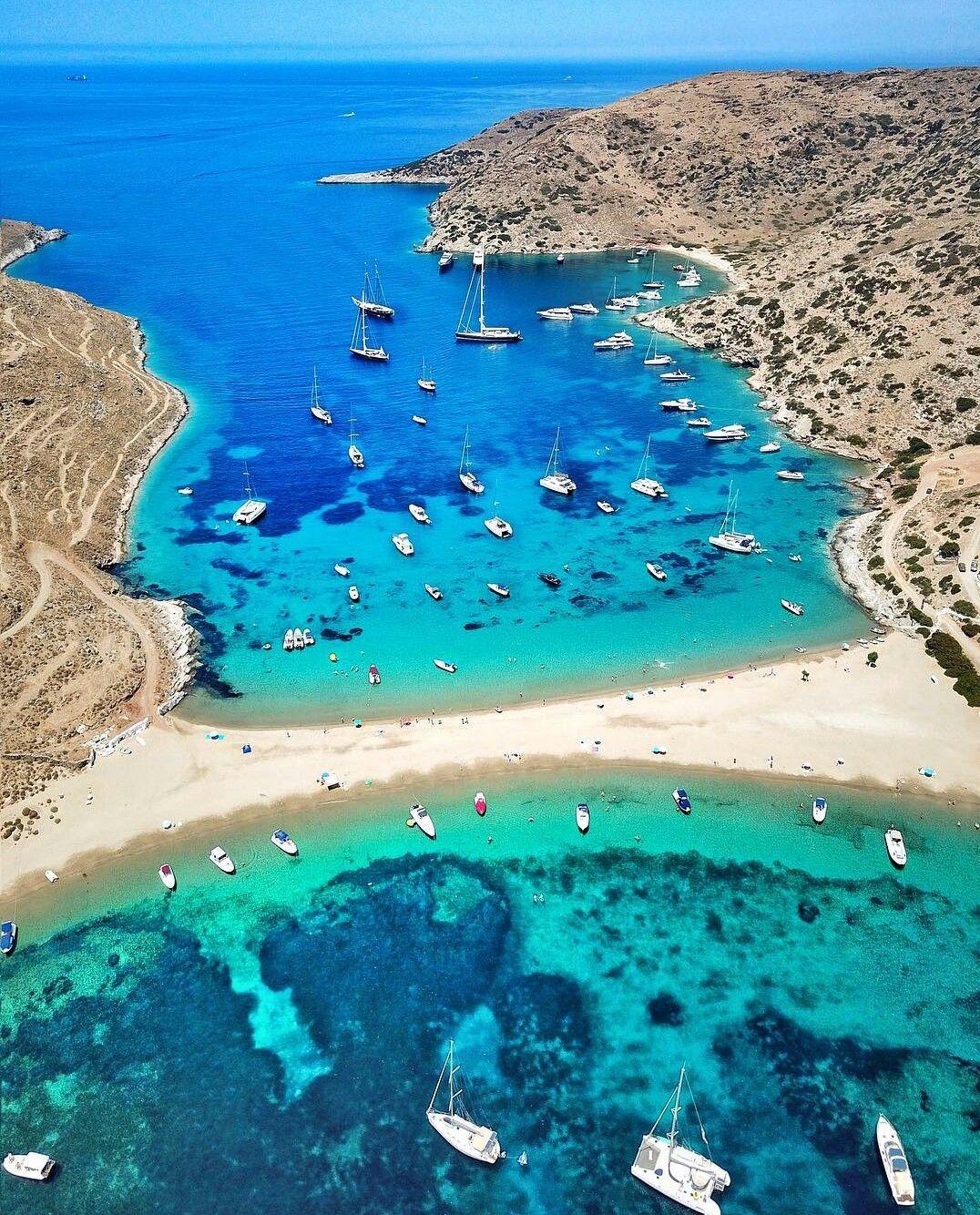 Sailing to Kithnos, Greece