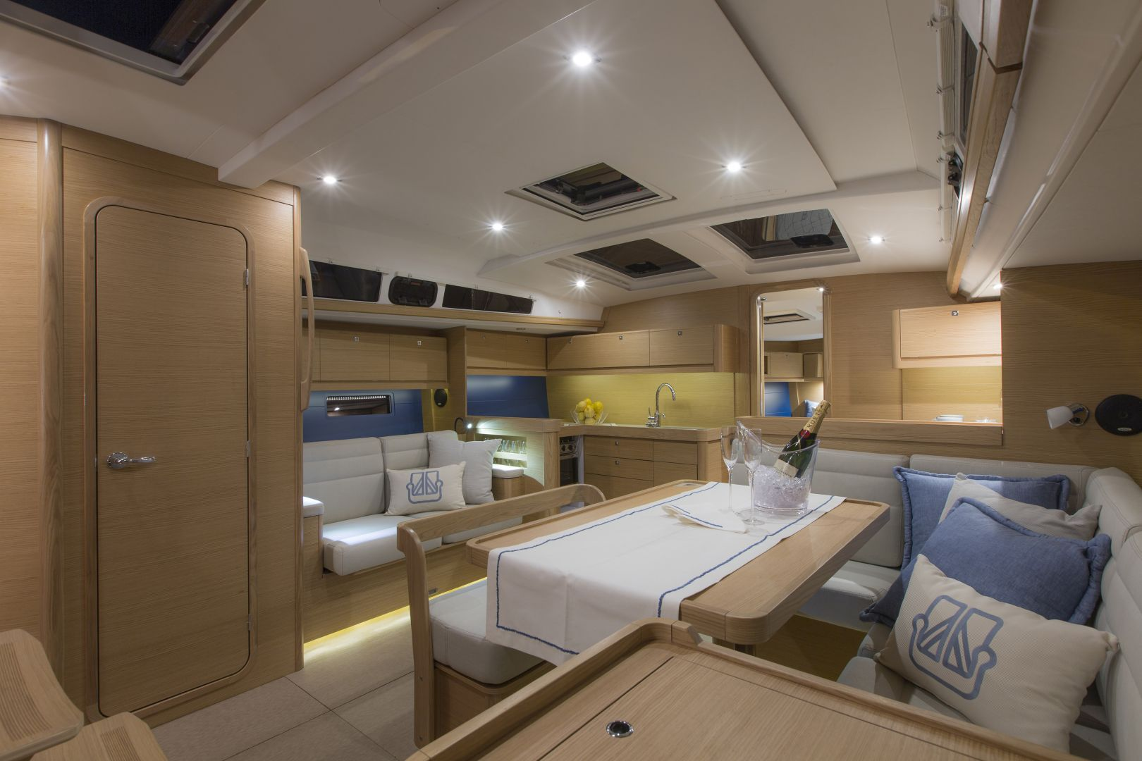 Interior of a Dufour boat, Sailing in Greece
